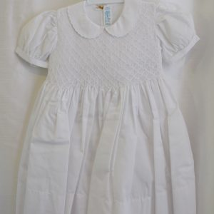 Girls 3T White Baptismal Dress w/ Bow on Back