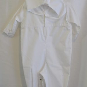 Boys 12 M. Baptismal Jumper w/ Matching Bonnet