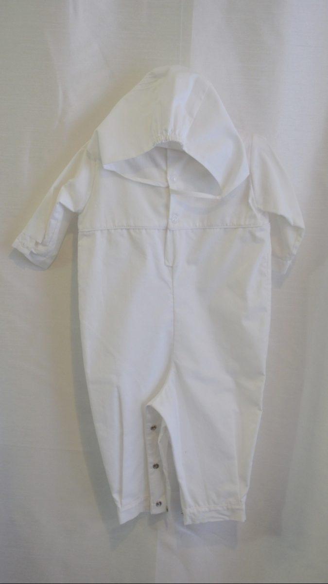 Boys 12 M. Baptismal Jumper w/ Matching Bonnet