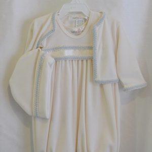 Boys Baptismal Outfit w/ Matching Bonnet