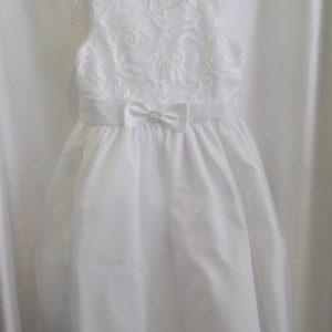 Girls White Communion Dress w/ Bow
