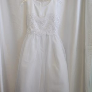 Girls Lace Communion Dress