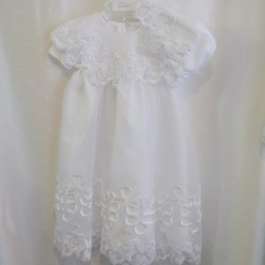 Girls 6-9 M. Baptismal Dress w/ Matching Bonnet
