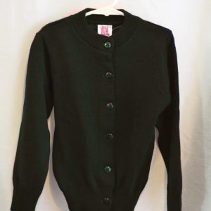 Plain Green Girls Crew Neck Button Down Sweater