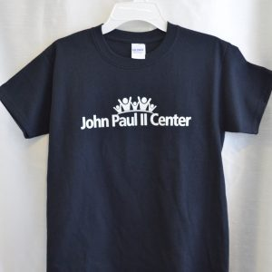 John Paul II Short Sleeve Black Gym T-shirt