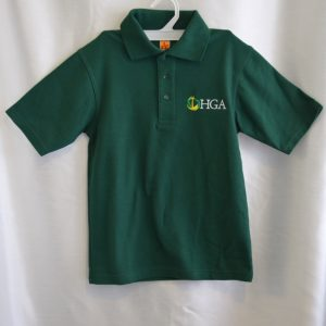 Boys/Girls Short Sleeve Green Holy Guardian Angel Polo