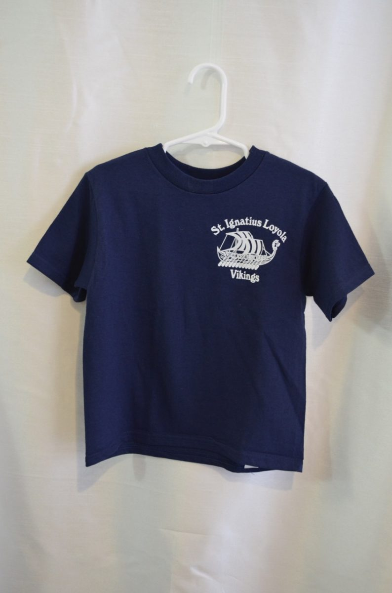 St. Ignatius Short Sleeve White or Navy Gym T-shirt
