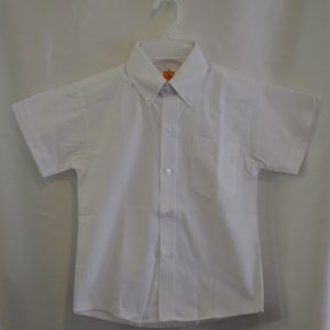 Girls/Womens Short Sleeve White Oxford Dress Shirt