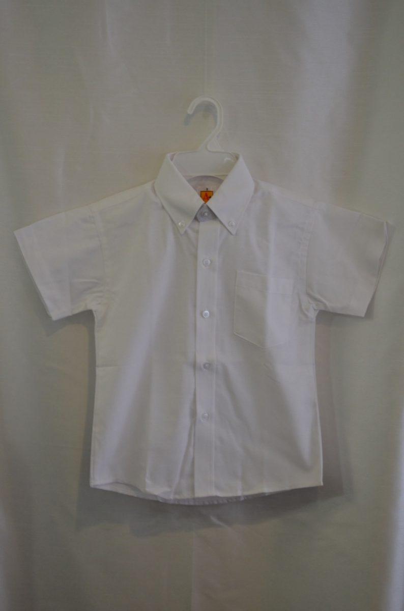 Girls/Womens Short Sleeve White Oxford Dress Shirt