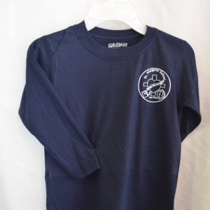 St. Margaret Long Sleeve Navy Gym T-shirt
