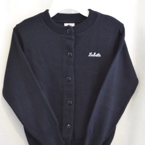 LaSalle Navy Crew Neck Button Down Cardigan Sweater