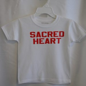 Sacred Heart Short Sleeve White Gym T-shirt