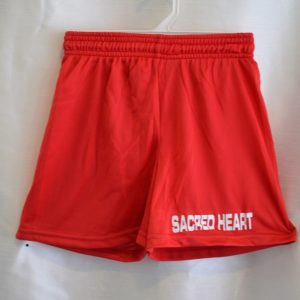Sacred Heart Red Gym Shorts