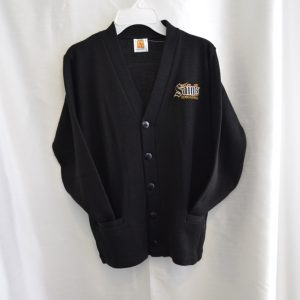 Berks Catholic Black V-Neck Button Down Cardigan Sweater