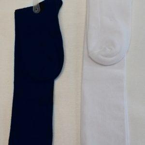 Girls Knee High Socks (Navy/White)