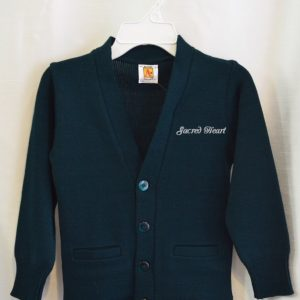 Sacred Heart Green or Navy V-Neck Cardigan