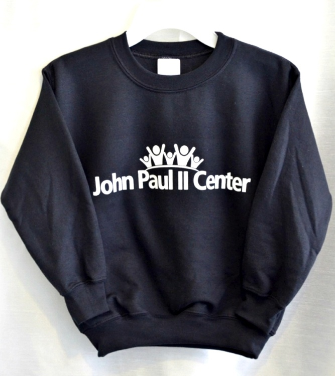 John Paul II Black Sweatshirt For Gym