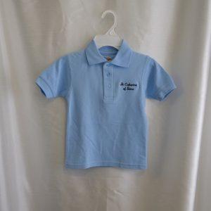 St. Catharine Lt Blue Polo Shirt