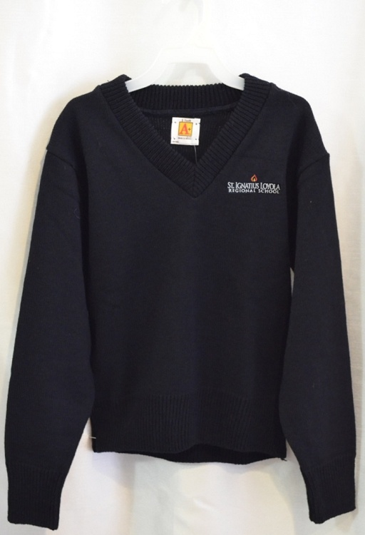 St Ignatius Navy Long Sleeve Pullover Sweater