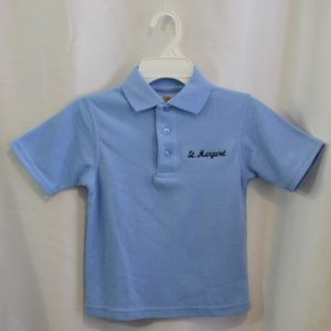 St. Margaret Lt Blue Unbanded Polo Shirt