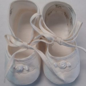 GIrls Cream Colored Baptism Shoe