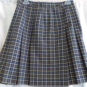 Grey, Yellow, and Blue Plaid Kilt