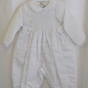 baptism jumper with diamond patters on top
