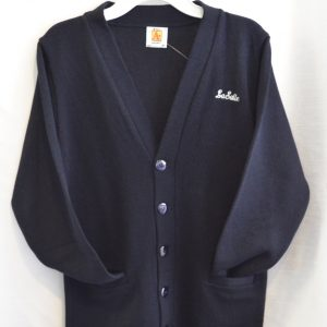 lasalle navy cardigan sweater