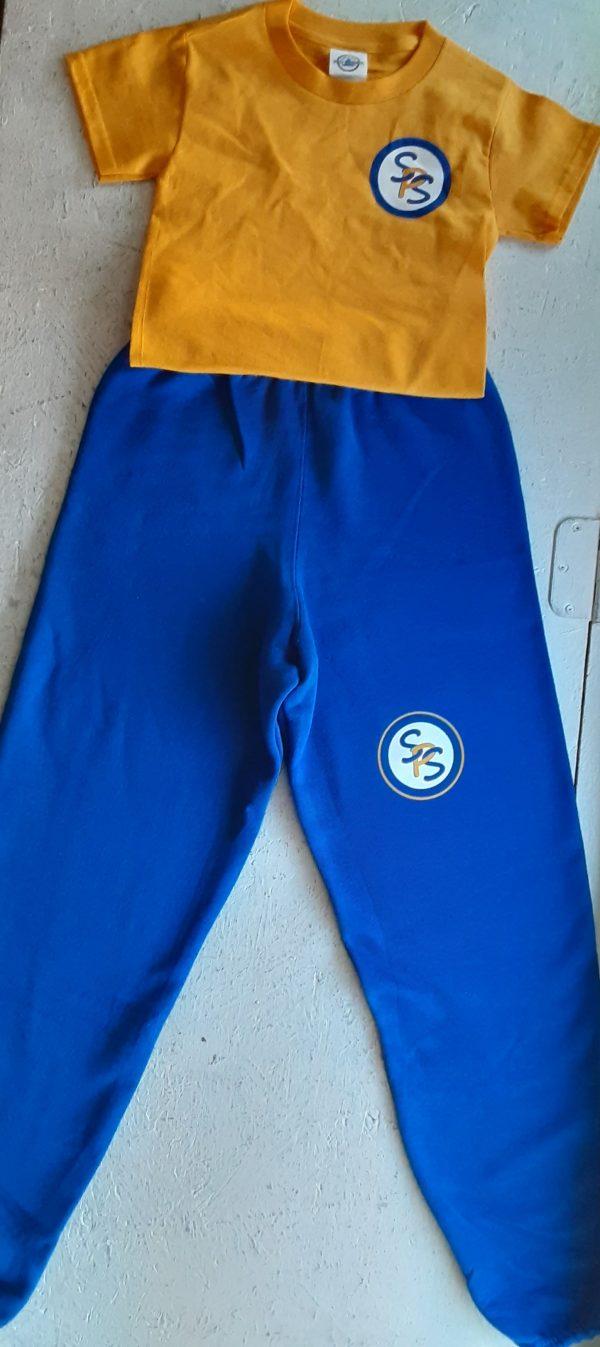 st peter gym uniform tshirt and sweatpants