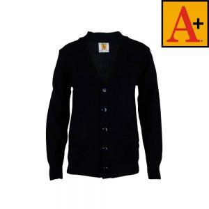 navy blue cardigan sweater a+